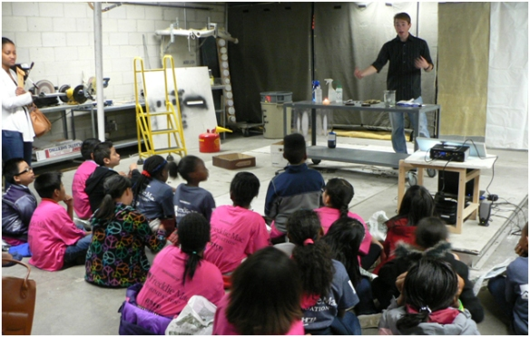 "Isaac Leventon teaches kids ""what is a flame?"